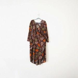 Gudrun Sjogen Harvest Print Wrap Dress